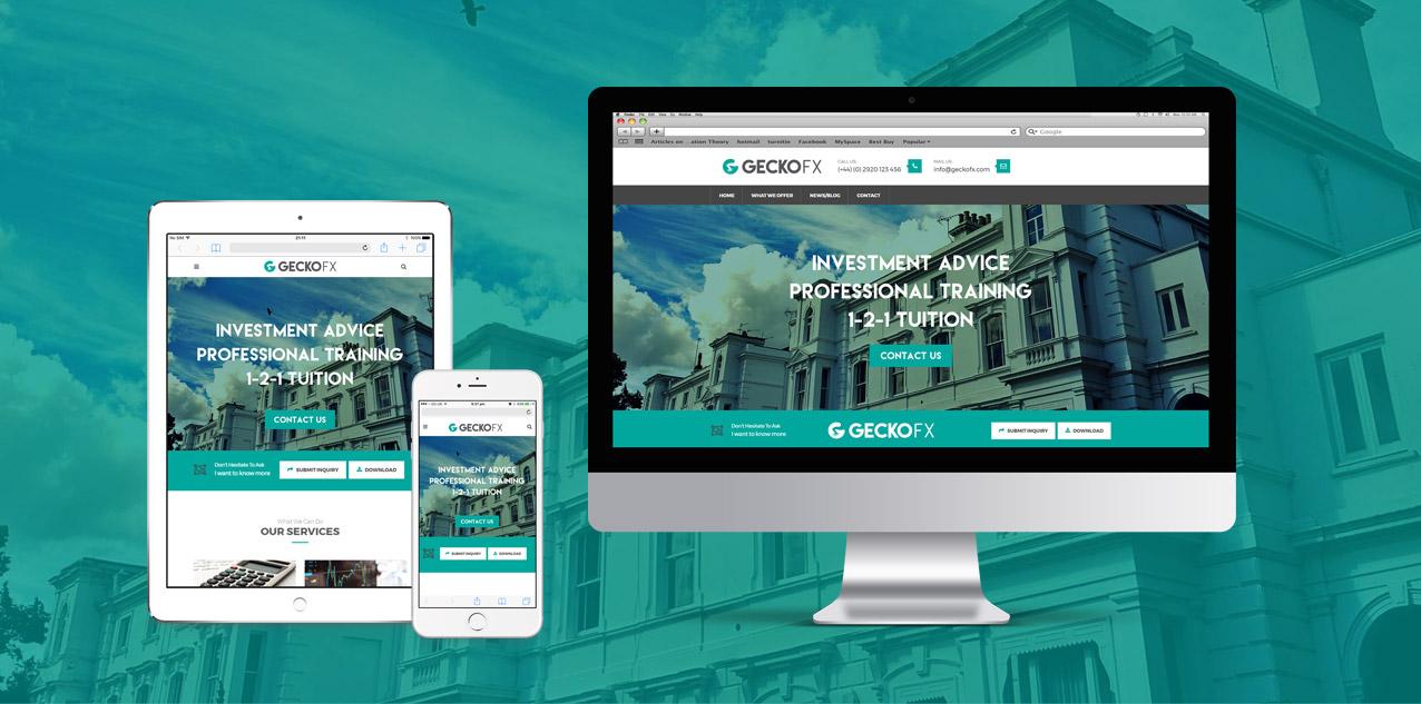 Gecko FX Website on Mac, iPad & iPhone